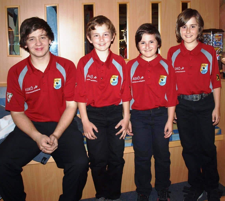 die Jugendmannschaft des 1. BC ASKÖ Taxenbach