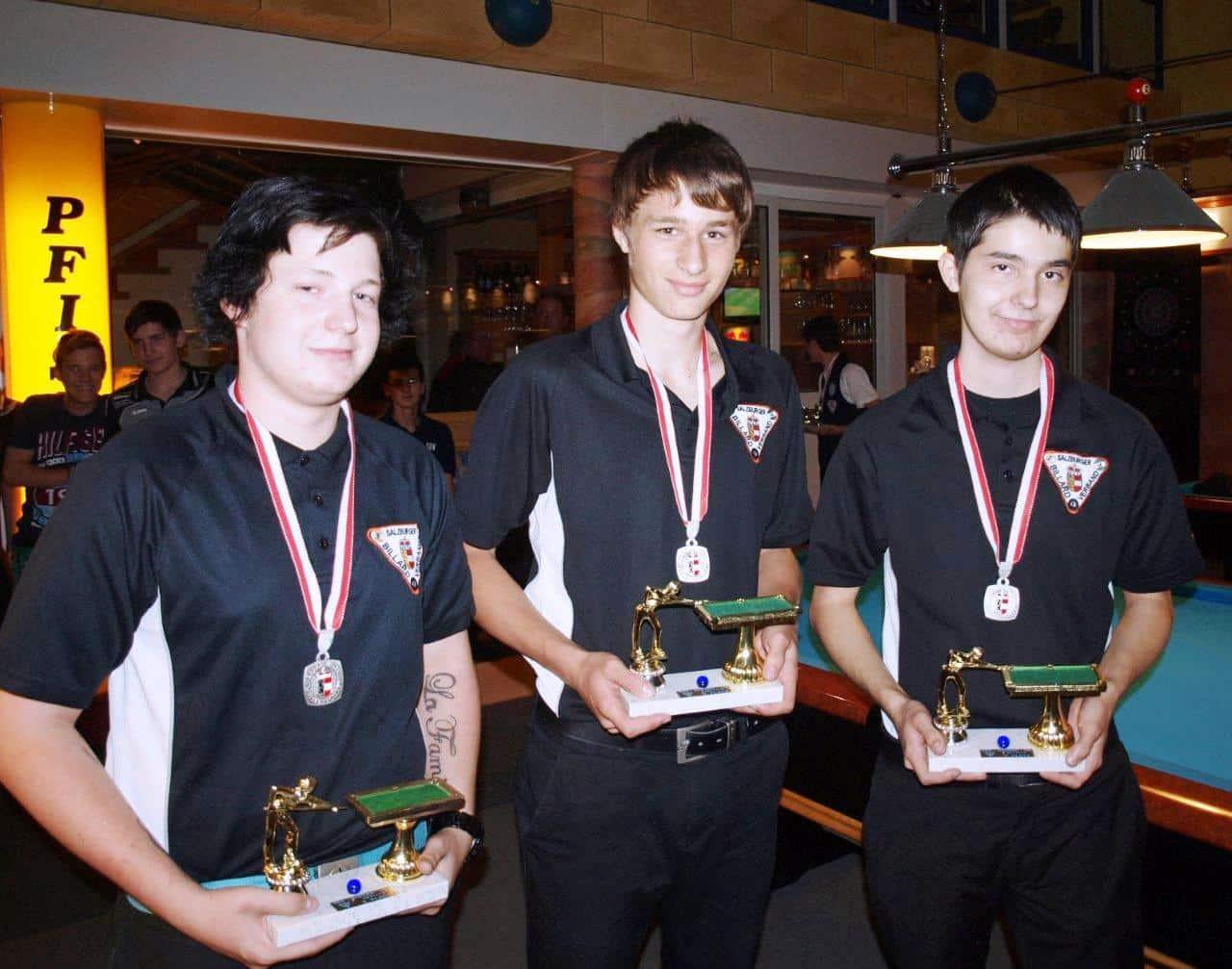 die Jugendmannschaft des ABC Lucky Pool Tennengau