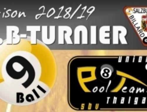 1. B-Turnier 2018/2019 in THALGAU