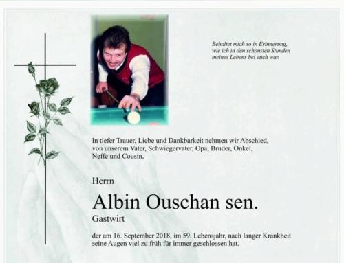 Albin Ouschan sen. – R.I.P.