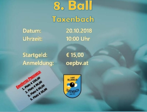 Info & Startzeiten / 2. B-Turnier am 20.10.2018 in Taxenbach