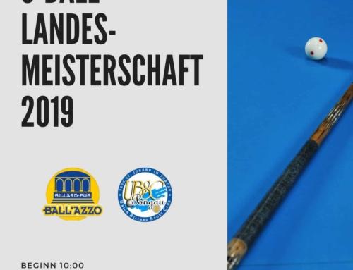 Ankündigung: 8-Ball Landesmeisterschaft Allgemeine Klasse und SBV-CUP