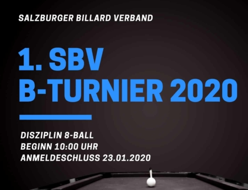 1. SBV B-Turnier am 25.01.2020 im Billard Pub Ball'azzo